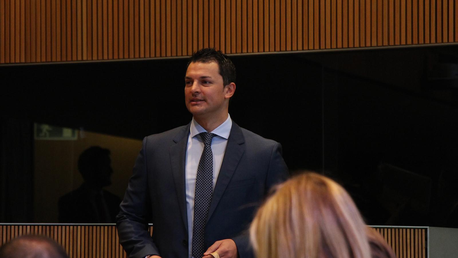 El president del grup parlamentari liberal, Jordi Gallardo. / M. F. (ANA)