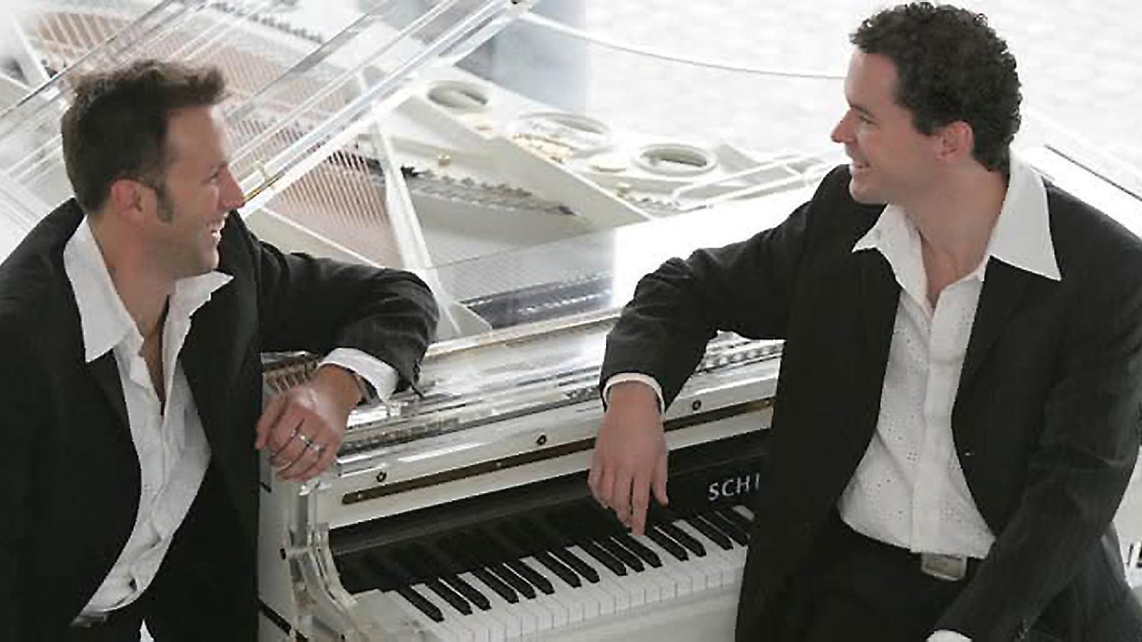 Marcel Dorn i Stephan Weh, dos pianistes de gran nivell que utilitzen el piano per fer humor.
