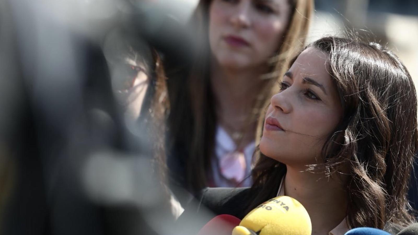 Inés Arrimadas després d'assistir a la fira Alimentària