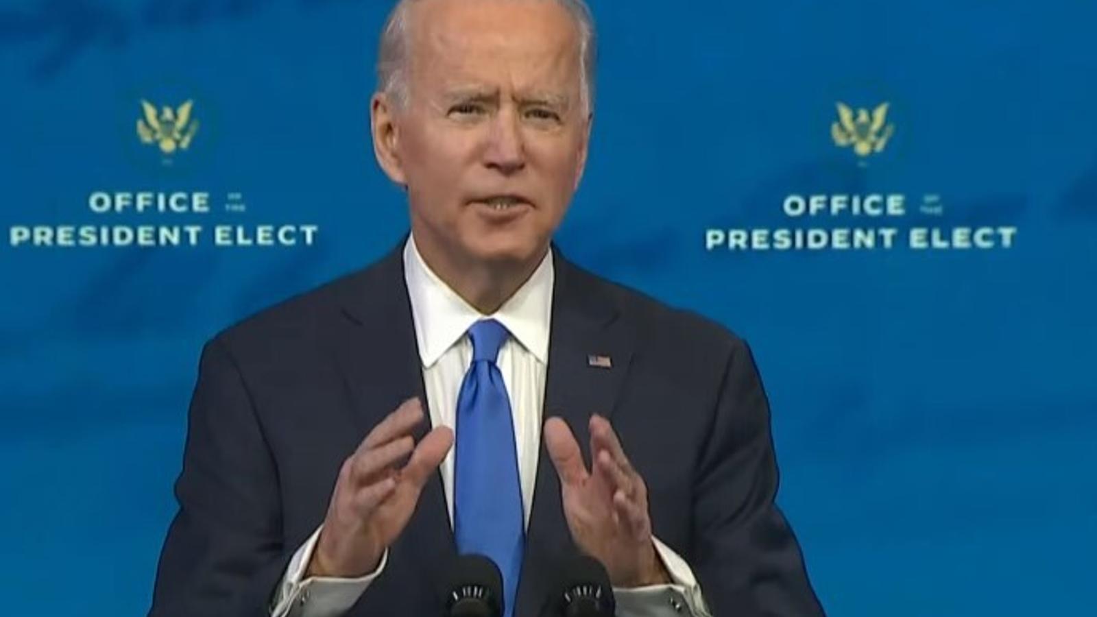 Joe Biden es dirigeix a la nació, aquesta matinada (Foto: PBS)