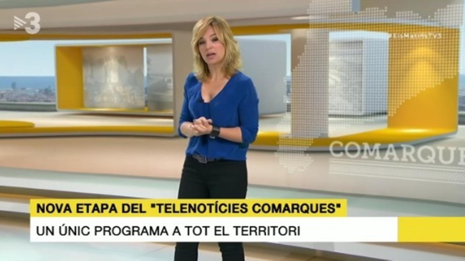 Núria Solé presenta el nou 'Telenotícies comarques'