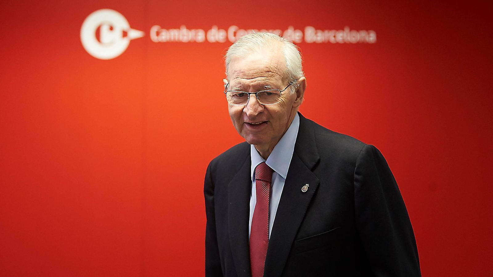 Miquel Valls era president de la Cambra barcelonina quan es va elaborar l'informe sobre la independència que no es va publicar / ALEJANDRO GARCÍA / EFE