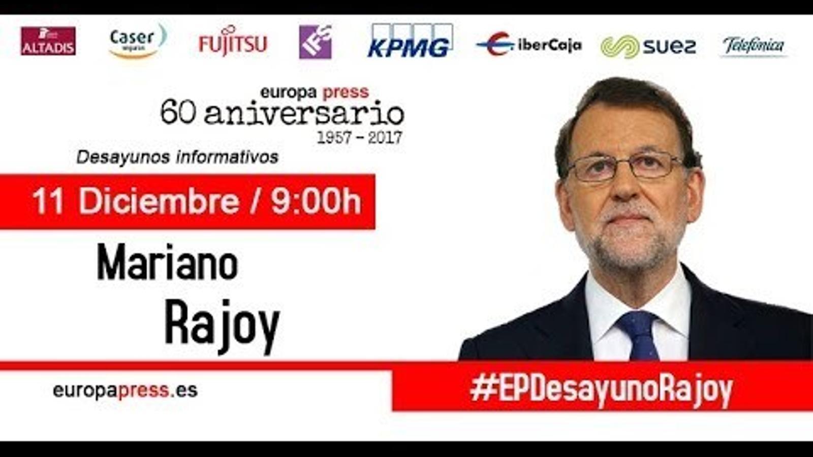 Esmorzar informatiu Mariano Rajoy