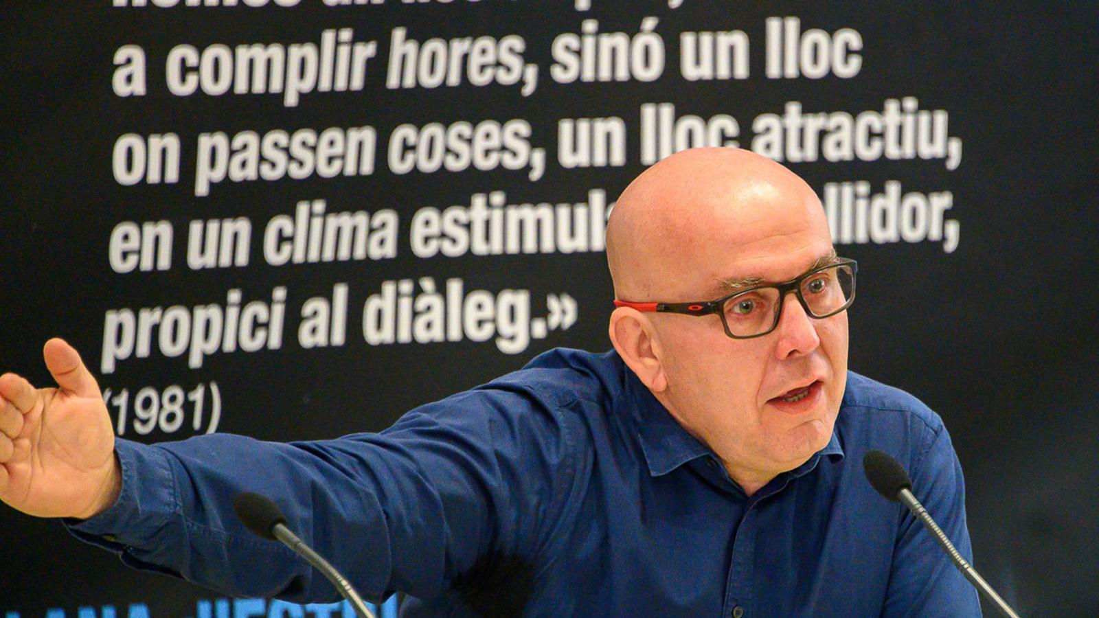 L'advocat de l'expresident de la Generalitat Carles Puigdemont, Gonzalo Boye, en una conferència a l'UCE de Prada