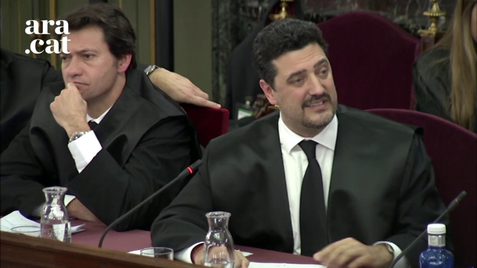 """Mariano Bergés, defensa de Bassa, diu que la DUI """"no es va publicar perquè no es votar"""" i diu que no és rebel·lió """"perseguir la rebel·lió ni que fos per vies il·legals"""""""