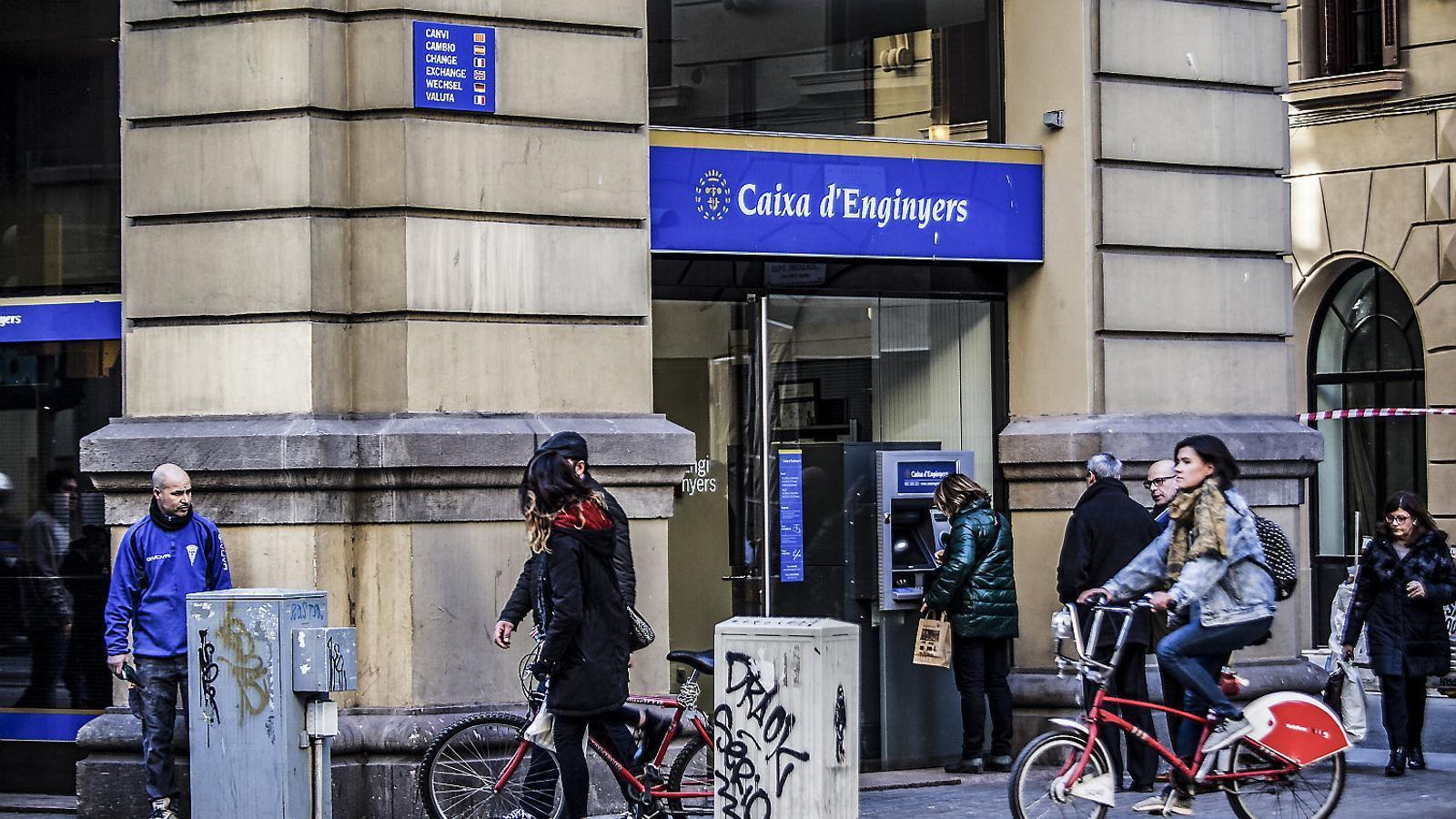 La seu central de la Caixa d'Enginyers a Via Laietana, a Barcelona.