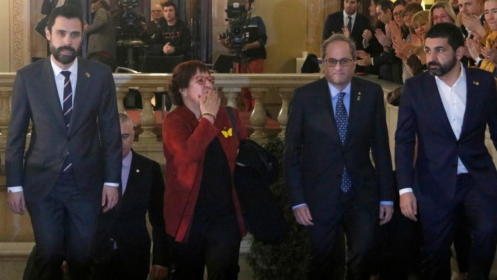 Així han arribat els presos polítics al Parlament