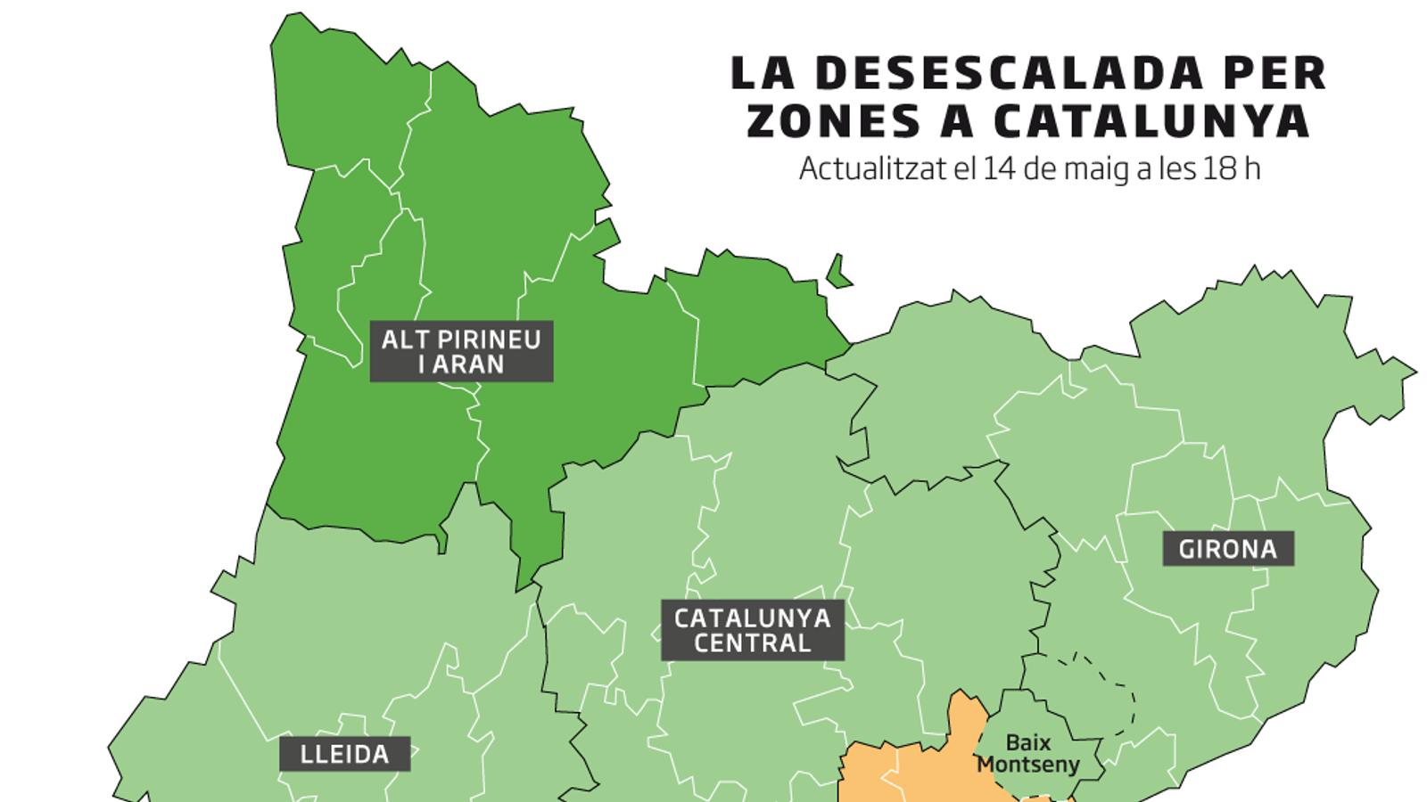El Govern proposa que el Garraf, l'Alt Penedès i el Baix Montseny passin a la fase 1, i estendre l'ús de les mascaretes