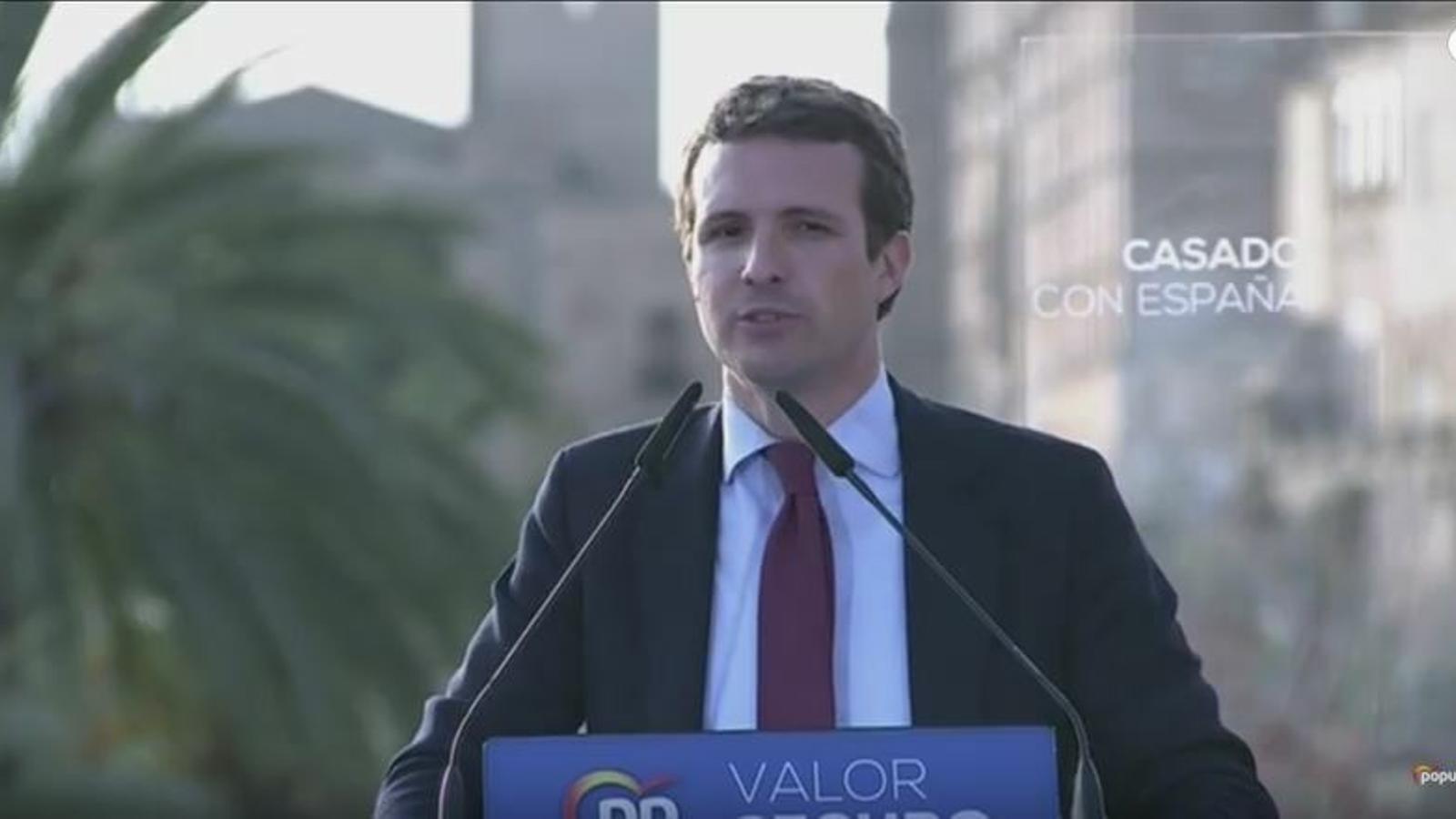 Casado ja és a Palma per impulsar la campanya del PP a les Illes