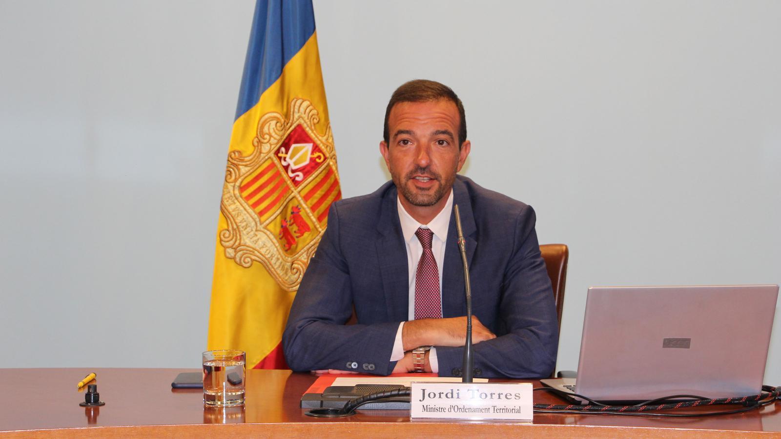 EL Ministre d'Ordenament Territorial, Jordi Torres. / C. A.
