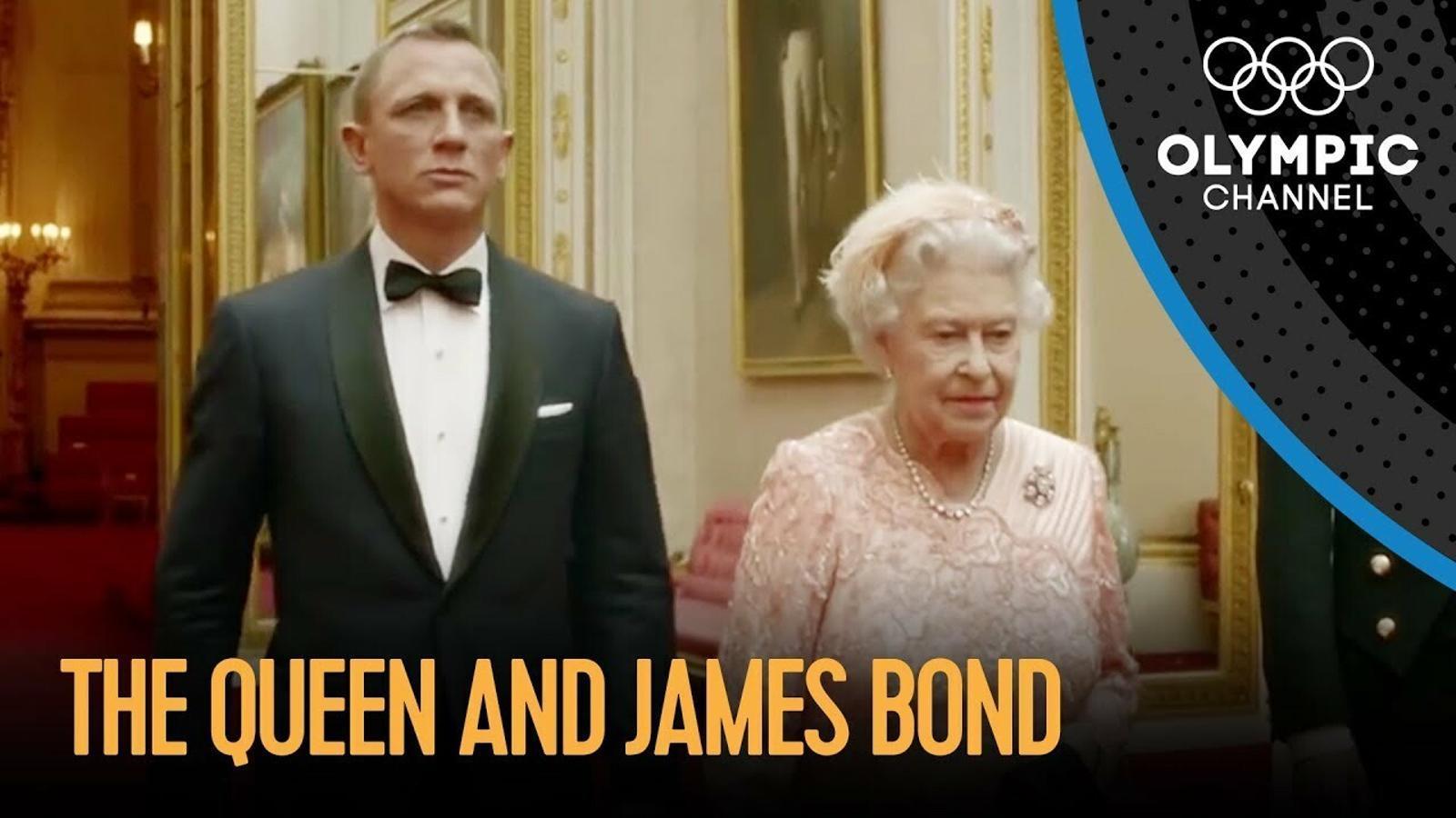 La reina i James Bond