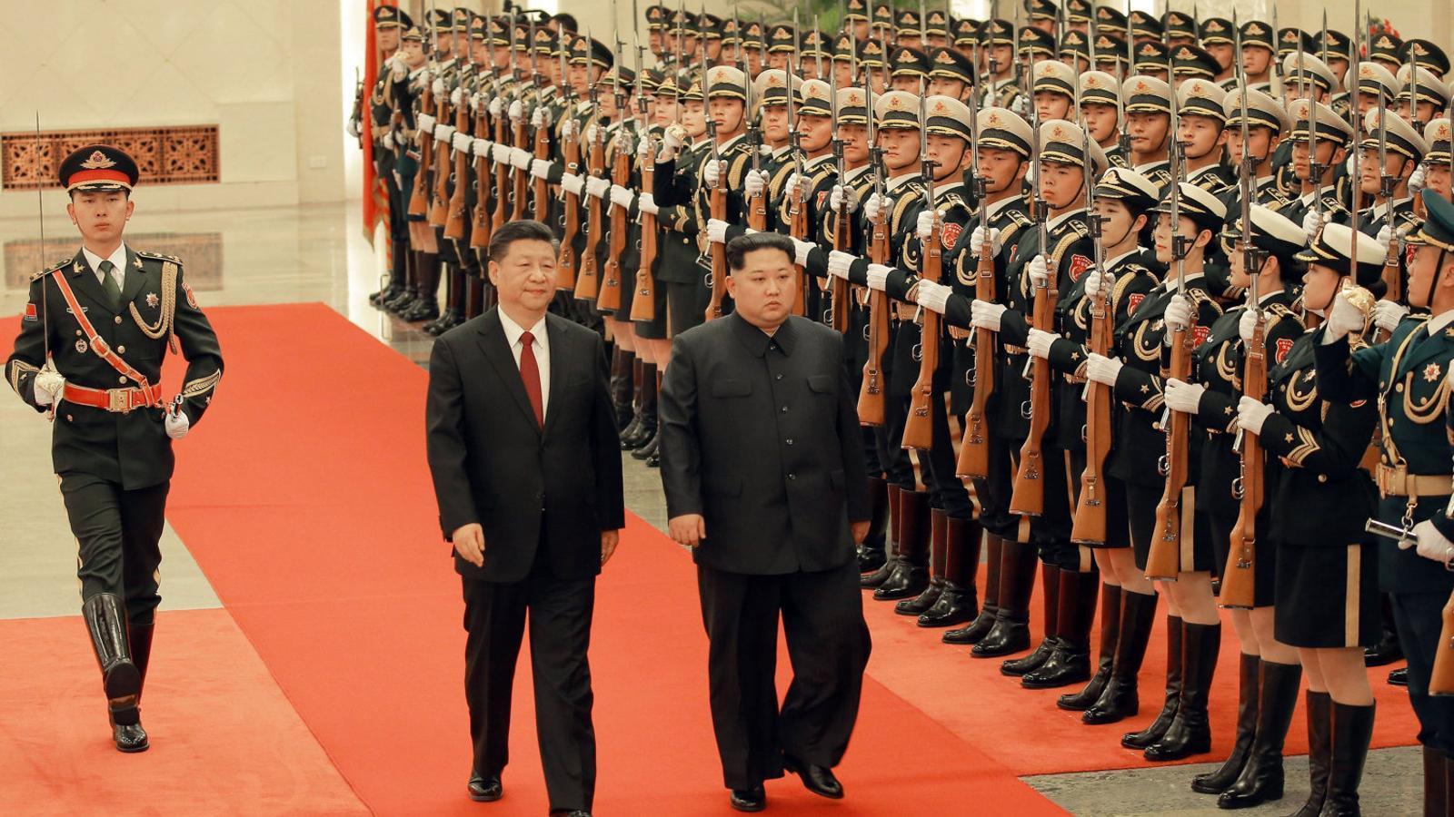 Kim Jong-un busca l'aprovació  de Pequín abans de veure Trump