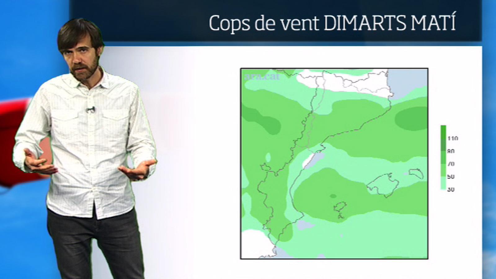La méteo en 1 minut: vent fort i nevades al Pirineu