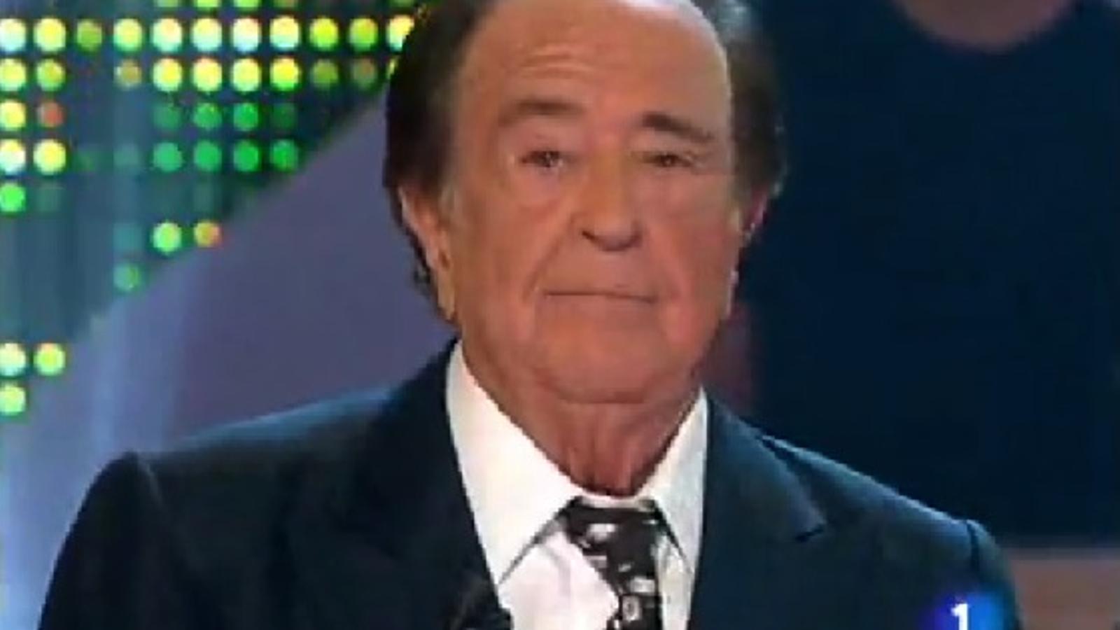 José Luis Uribarri, en una de les seves últimes aparicions a TVE, el 2010