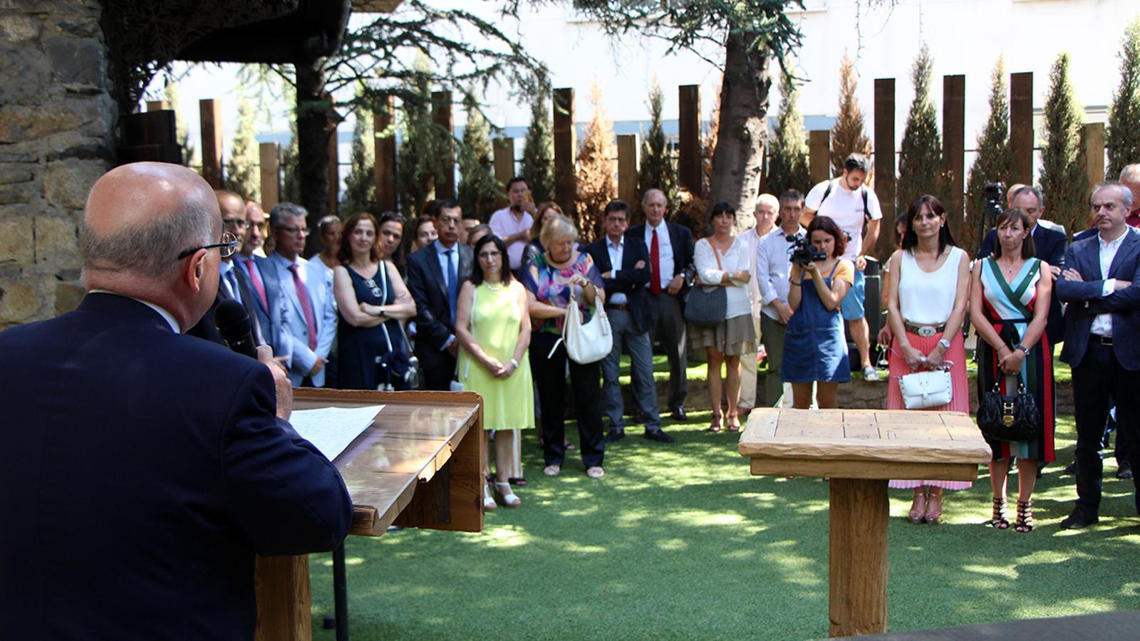 L'acte de comiat al fins ara ambaixador d'Espanya a Andorra, Manuel Montobbio. / M. M. (ANA)