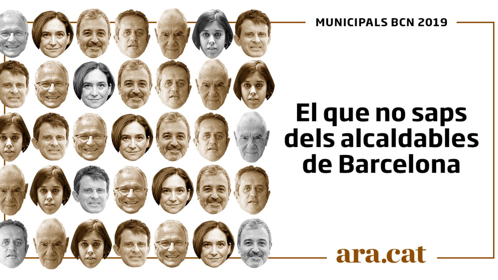 El que no saps dels alcaldables de Barcelona