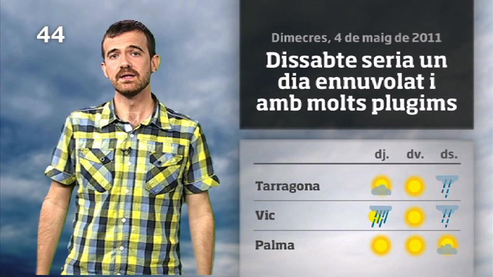 La méteo en 1 minut: canvis de cara el cap de setmana (04/05/2011)