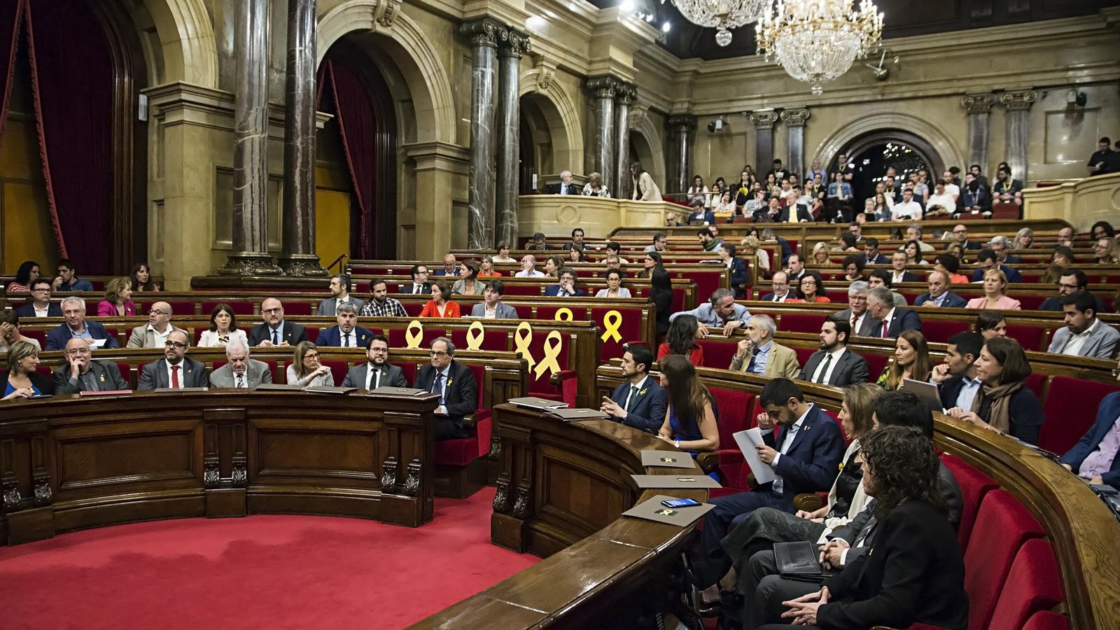 Sessió de control al Parlament de Catalunya