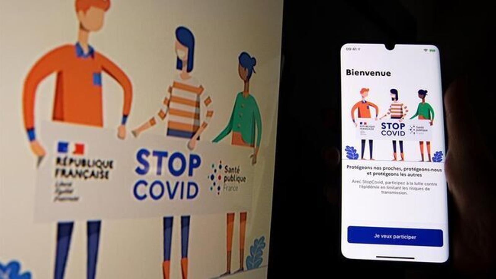 Presentació a París de l'apli StopCovid que posa en marxa el govern francès. / EFE