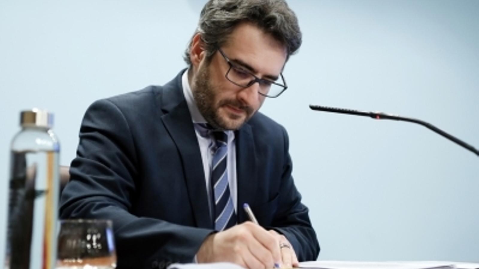 El ministre Portaveu, Eric Jover. / SFG