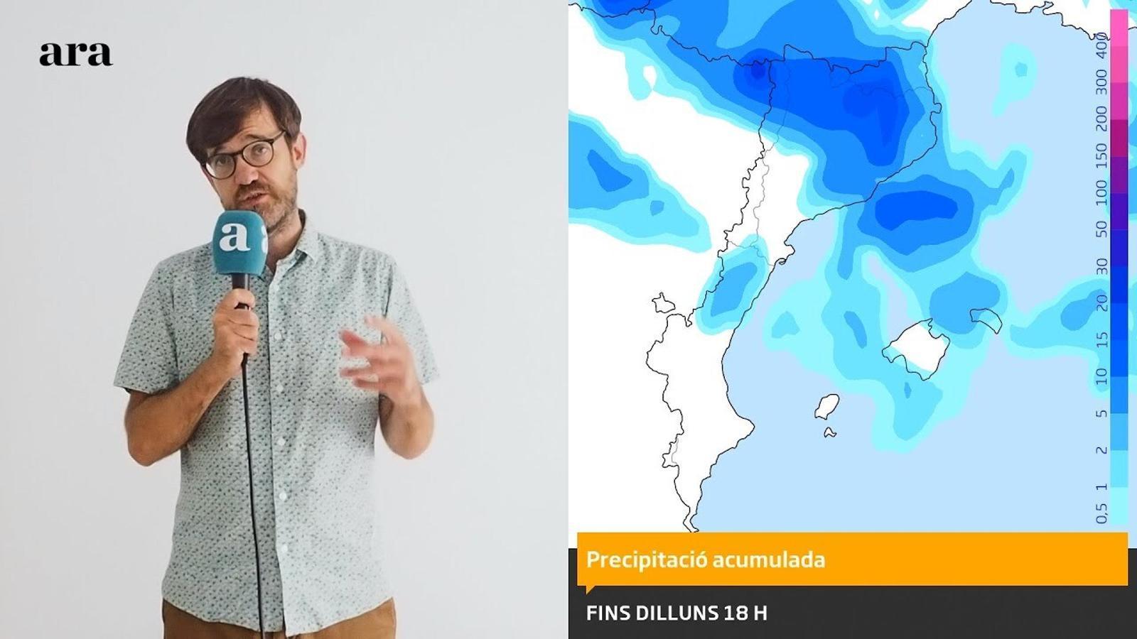 La méteo: tempestes i calor a curt termini, fred i primeres nevades al final de la setmana