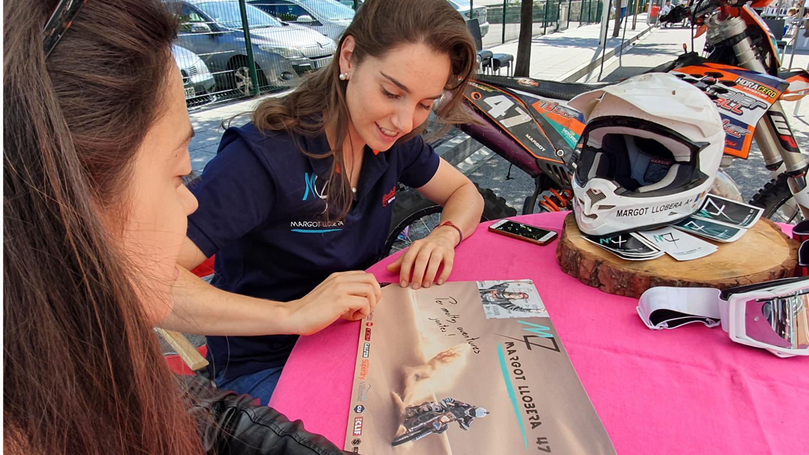 La pilot Margot Llobera a la jornada 'Andorra contra el càncer'. / ASSANDCA