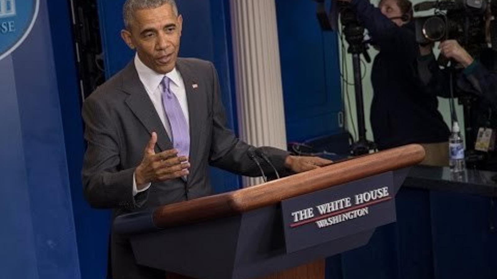 Última roda de premsa d'Obama com a president dels EUA