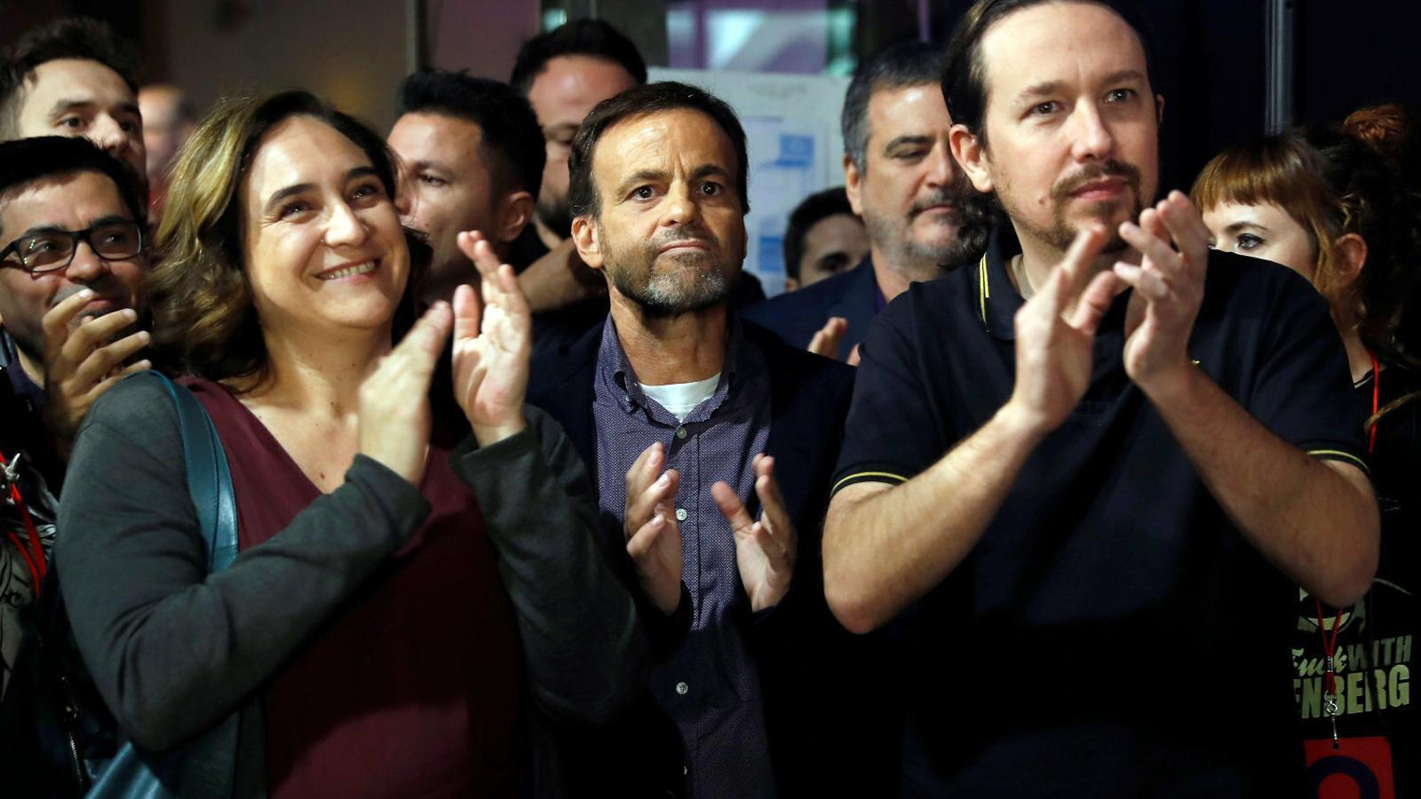 Ada Colau i Jaume Asens en el míting central de la campanya del 10-N.