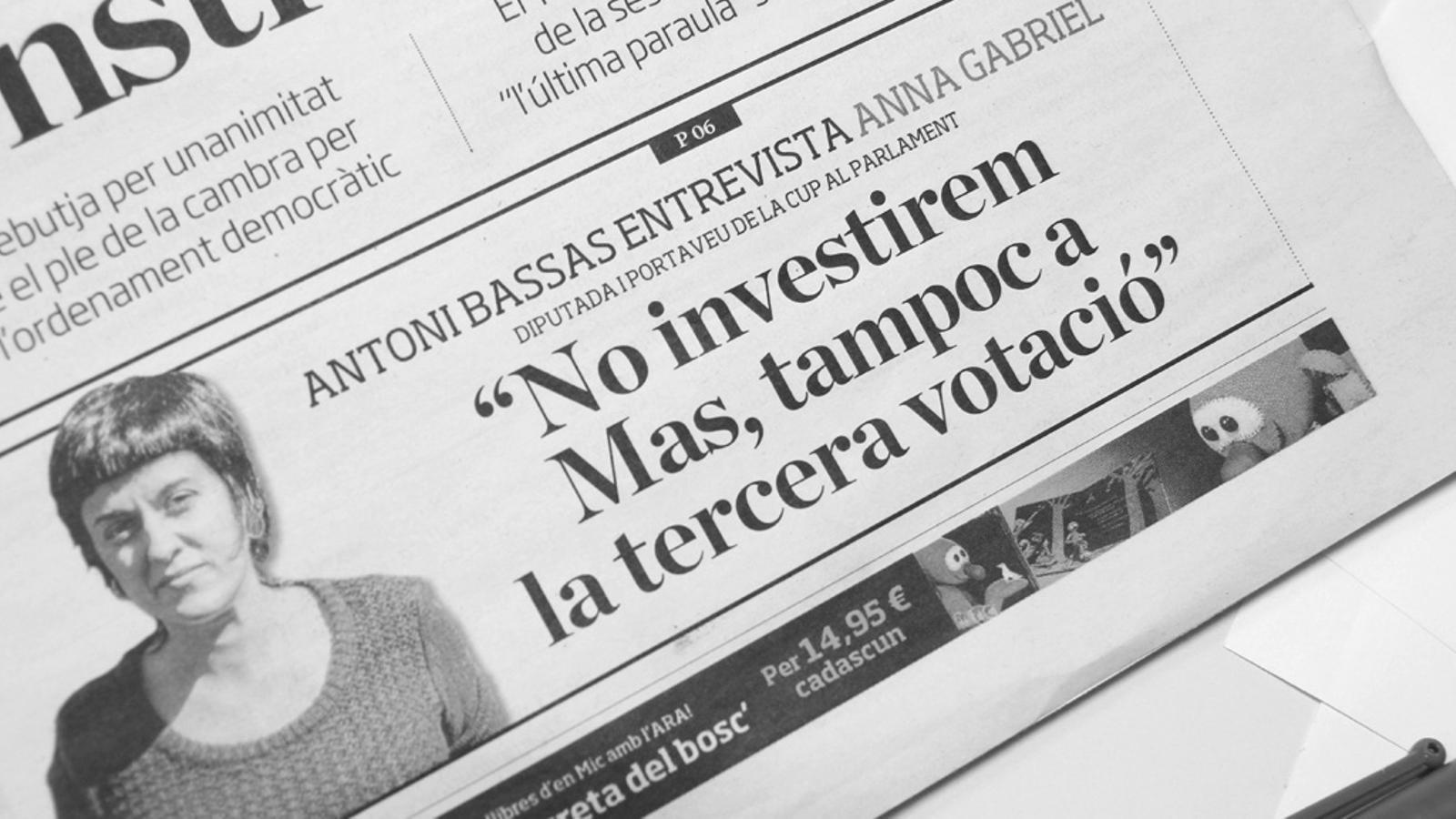 L'Editorial d'Antoni Bassas: El 'sí' i el risc de trencament (06/11/15)