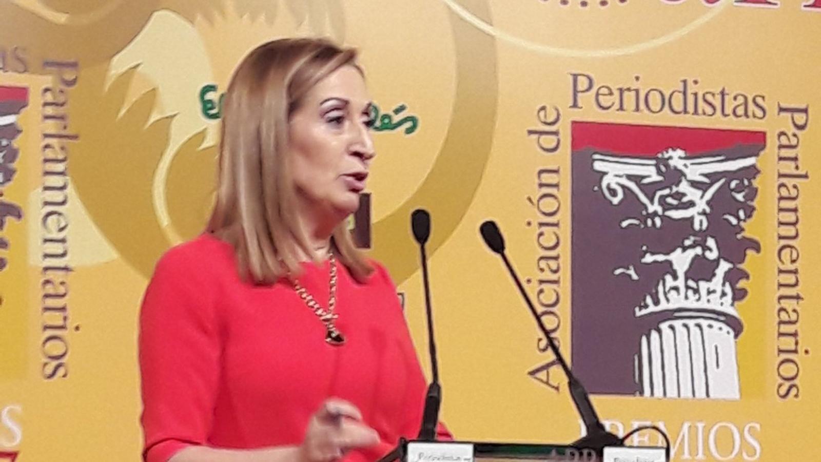 Ana Pastor, durant el seu discurs als premis de l'APP / APP