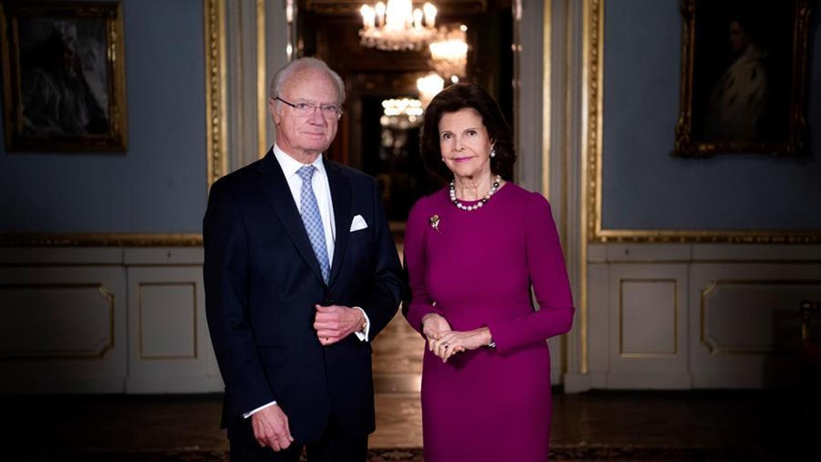 Els reis de Suècia, Carles Gustau i Sílvia
