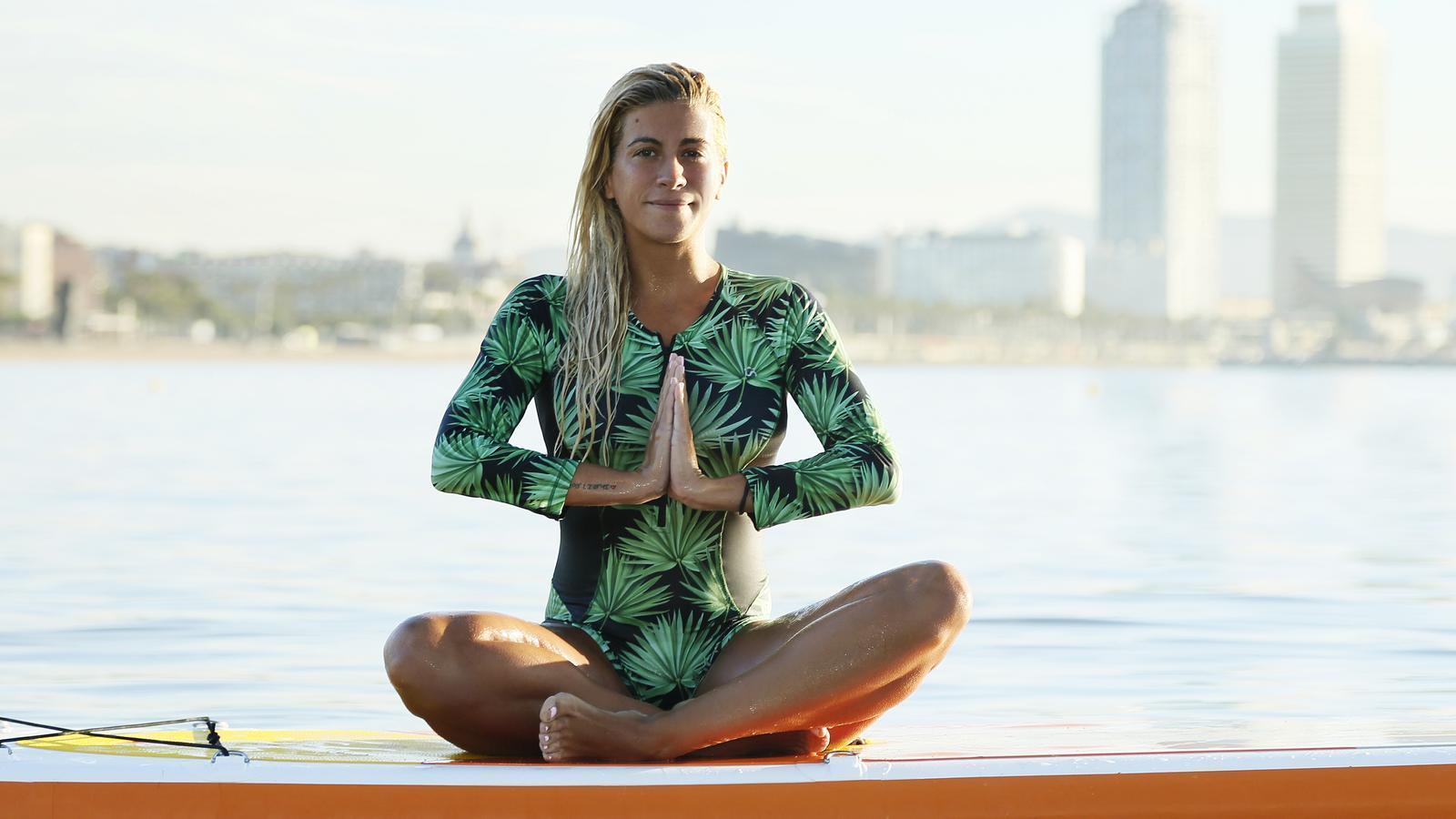 Elisabet Merino és la fundadora de la marca Pilates sup&beach