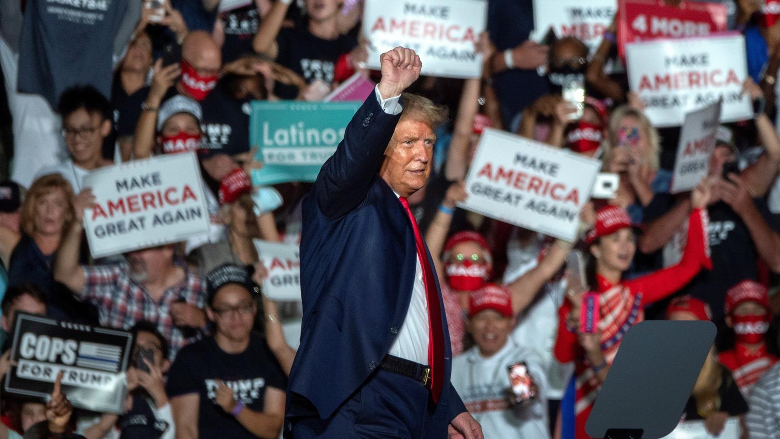 Trump en la seva intervenció al míting de Florida