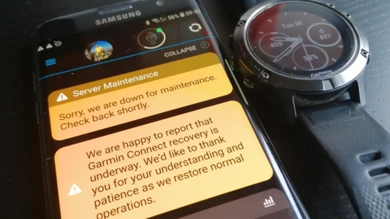 Aquest és el missatge que envia Garmin quan s'intenta fer servir un dels seus rellotges. / ANA
