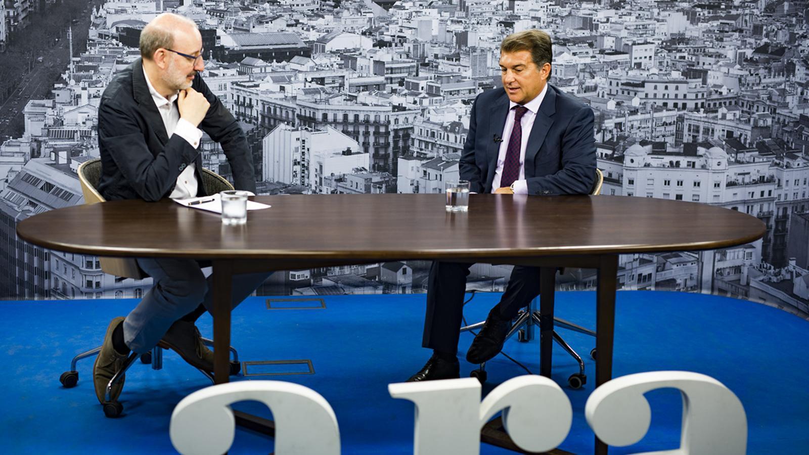 Antoni Bassas entrevista a Joan Laporta