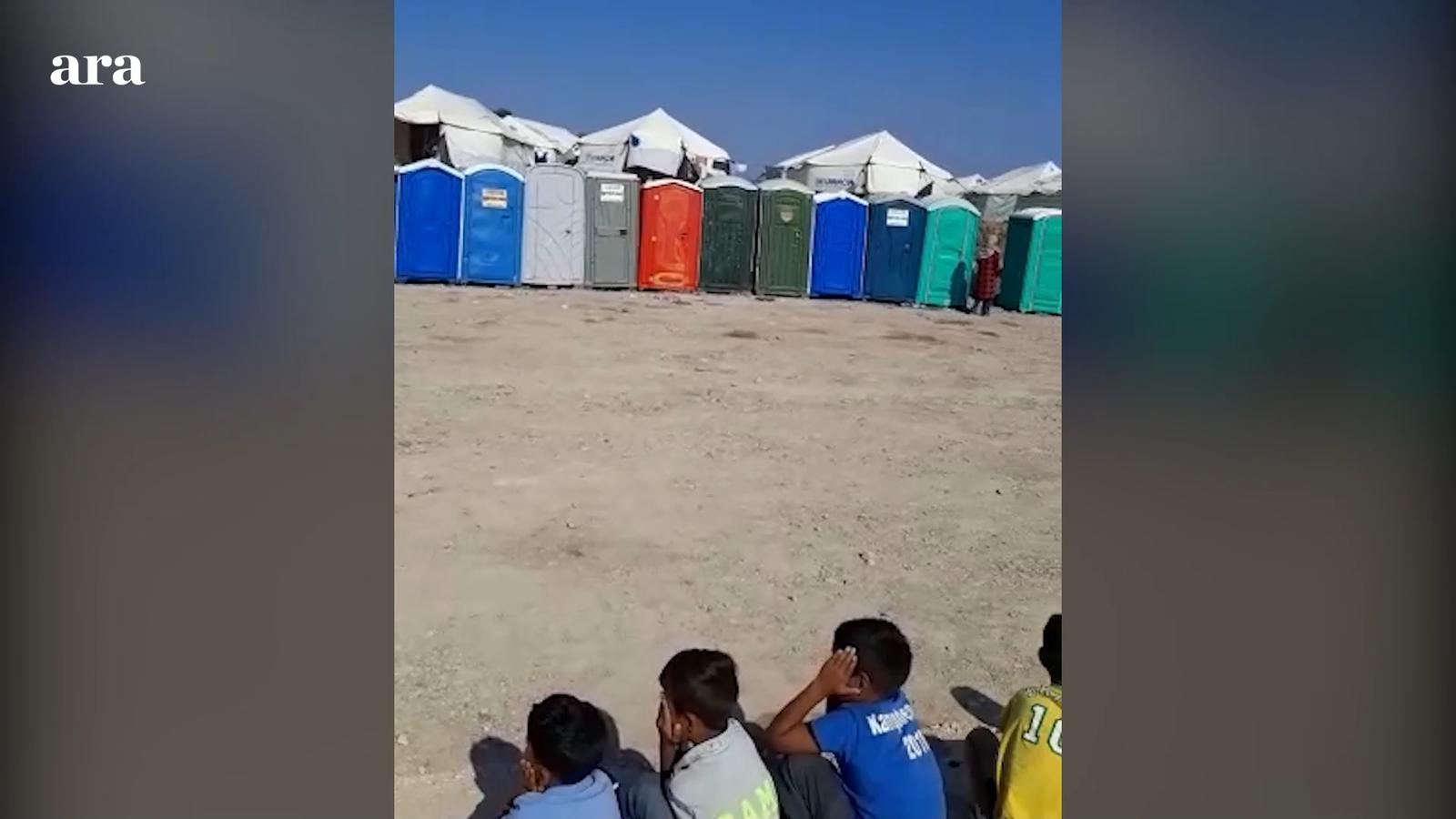 Lavabos  - Camp de refugiats a Lesbos