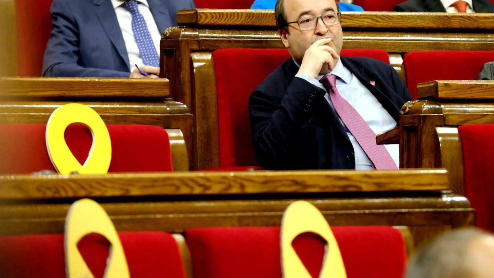 El primer secretari del PSC, Miquel Iceta, aquest dijous al ple del Parlament