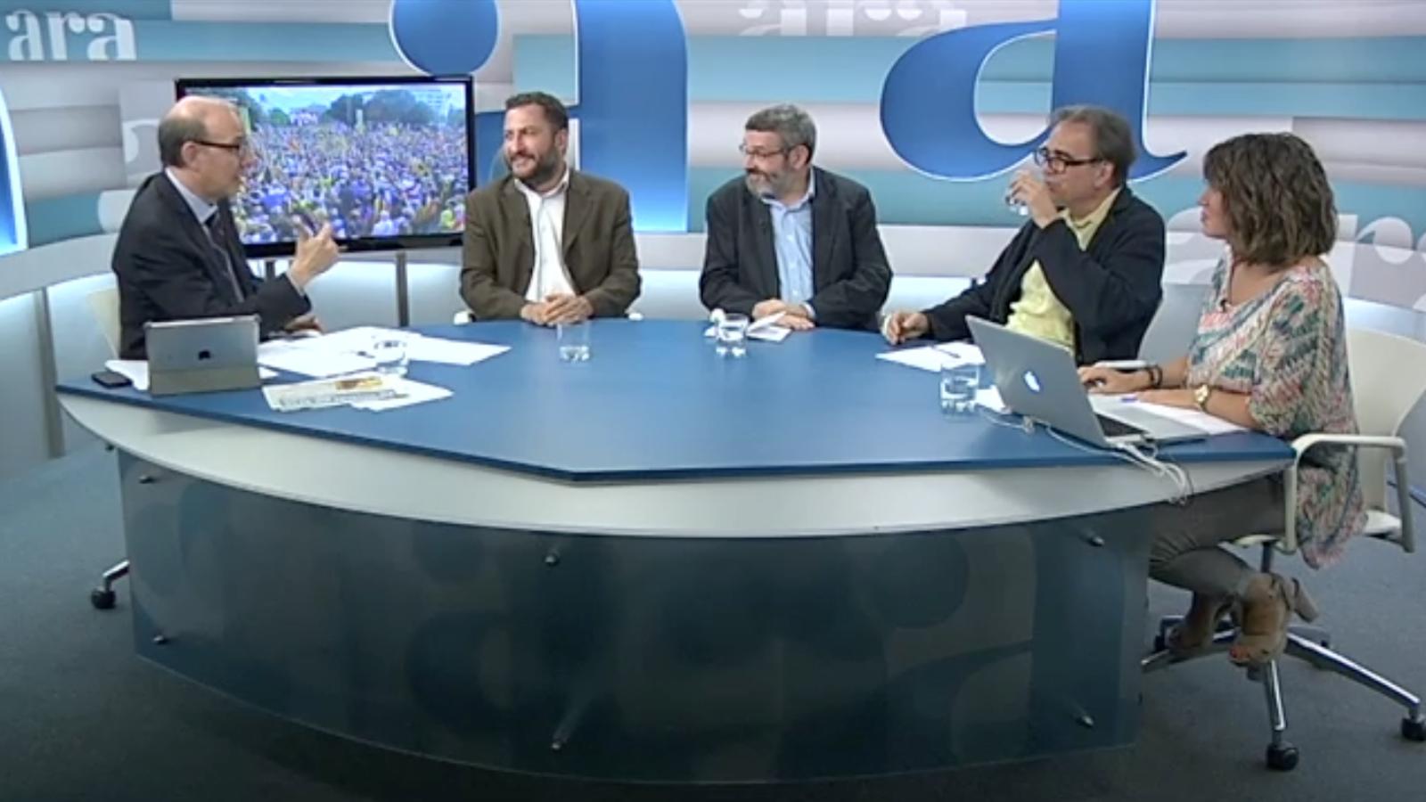 Especial Diada 2013 a l'Ara TV, amb Antoni Bassas (Part 1)
