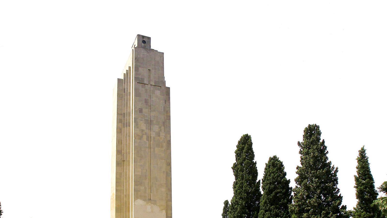 El futur del monument de la Feixina, en mans dels jutges