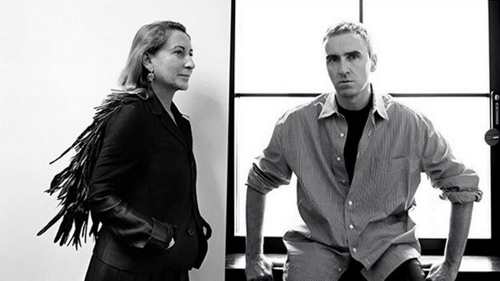 Raf Simons i Miuccia Prada