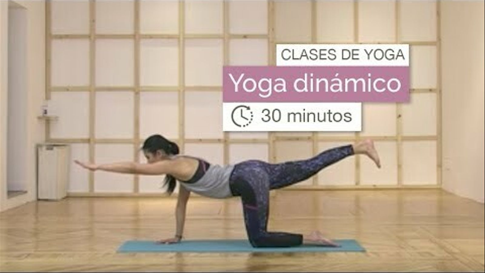 Una de les classes de ioga de Xuan Lan