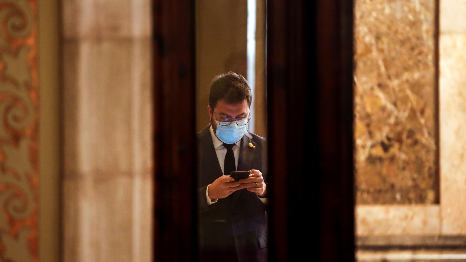 El vicepresident del Govern, Pere Aragonès, aquest dimecres.