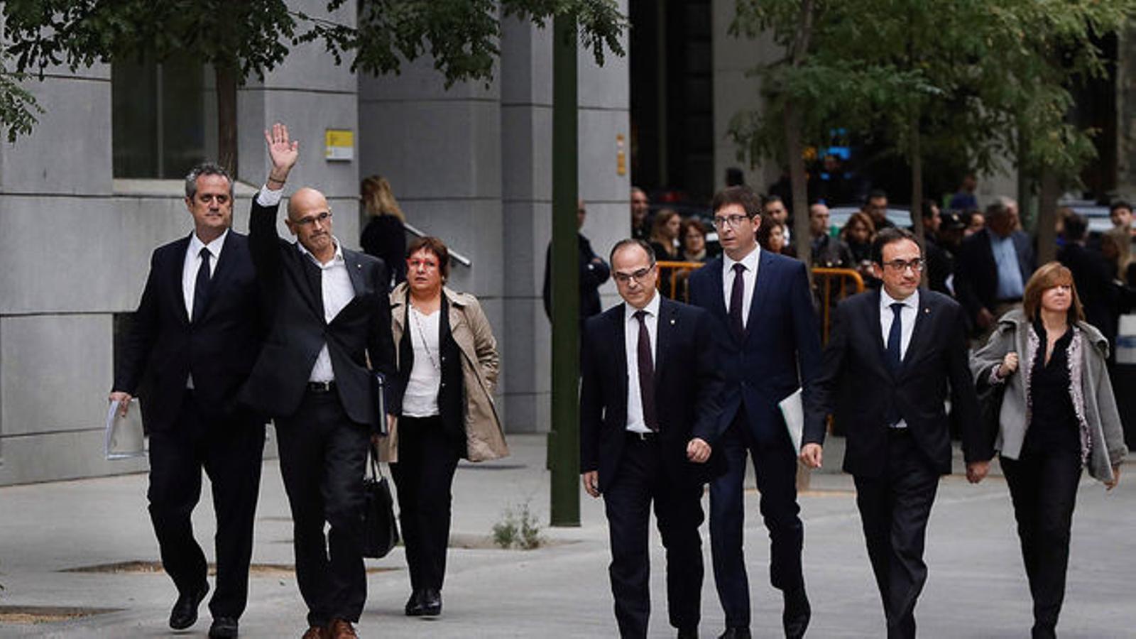 Els nou presos arribaran a Madrid el 29 de gener