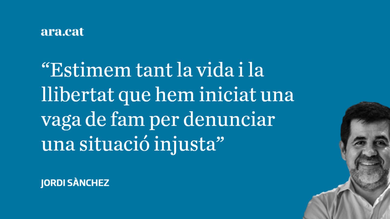 A favor de la vida i la llibertat; per Jordi Sànchez
