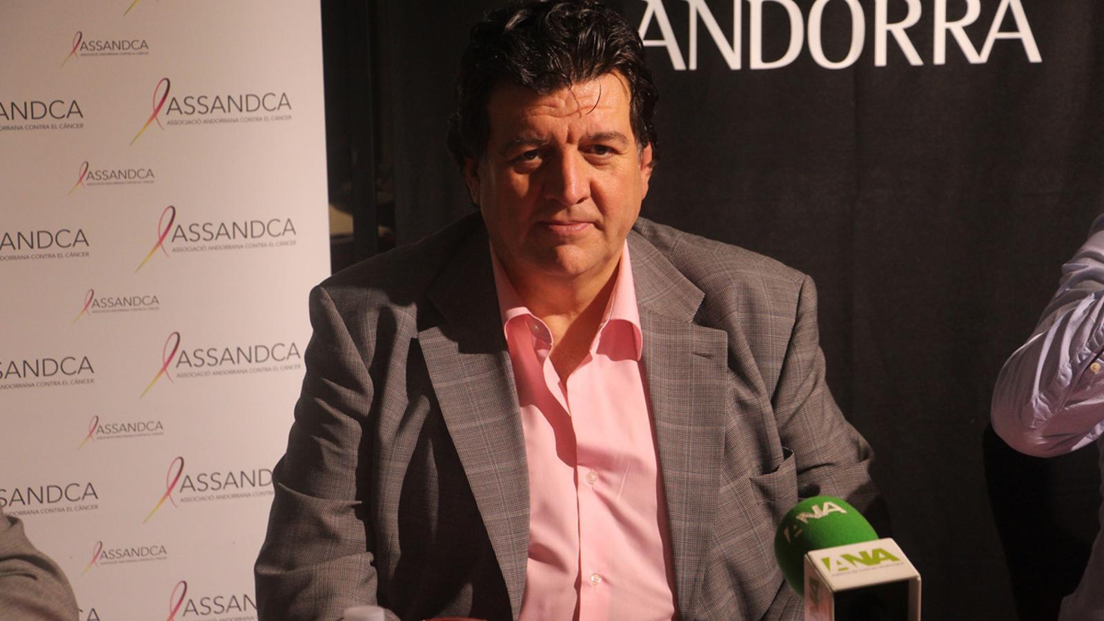 El president de l'Assandca, Josep Saravia, durant la roda de premsa celebrada aquest dimecres.