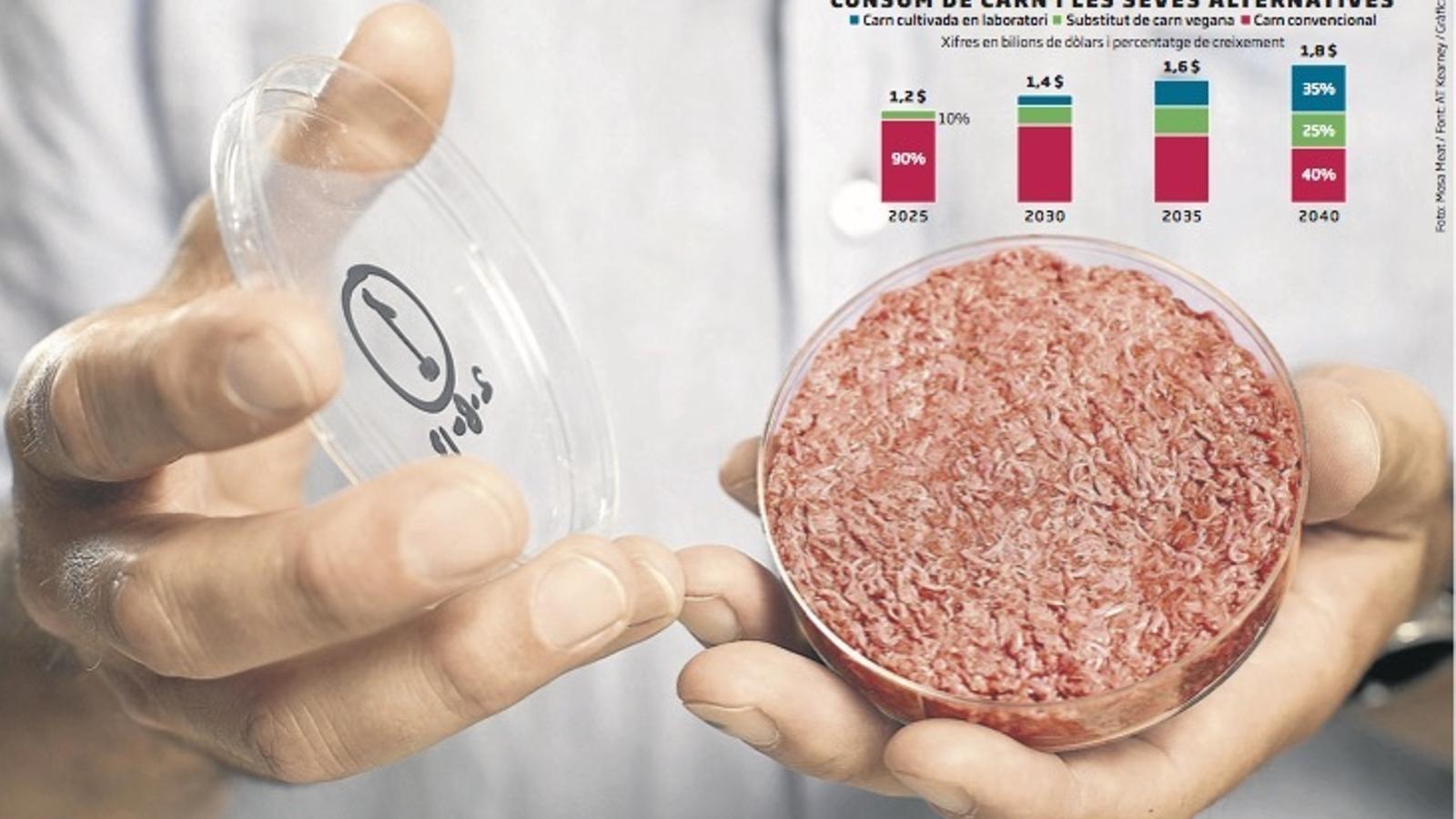 Un terç de la carn es cultivarà al laboratori el 2050