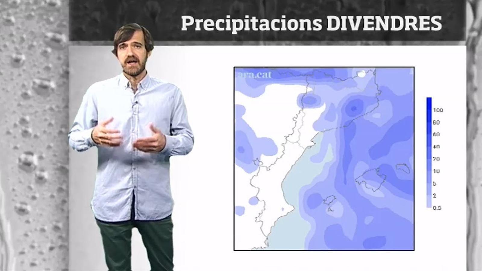 La méteo en 1 minut: tongada de pluges i nevades entre dijous i divendres