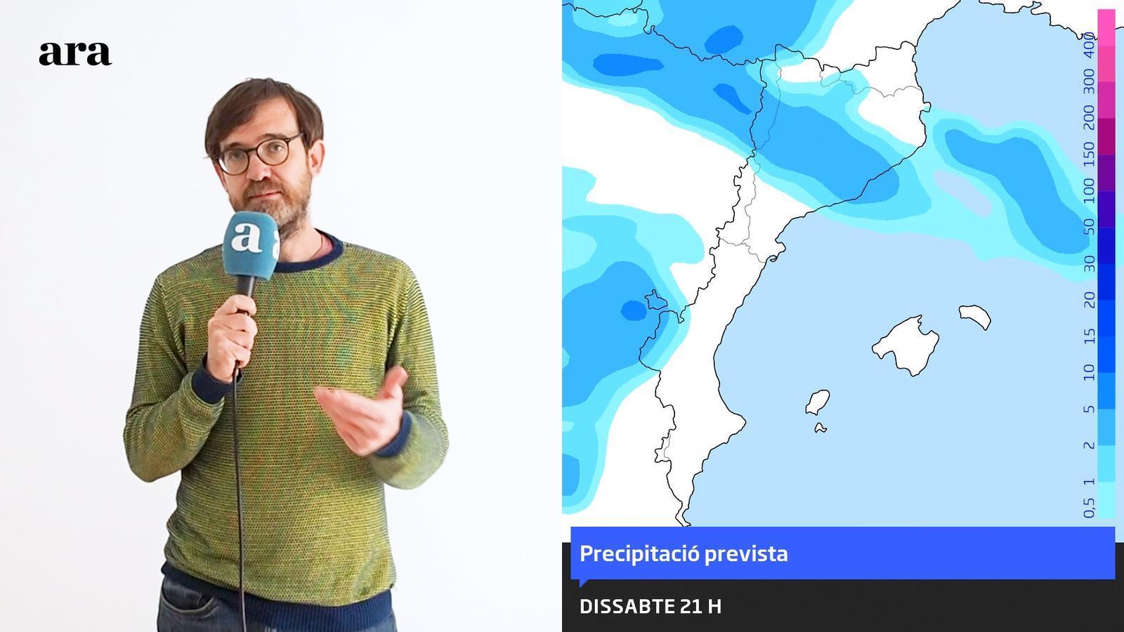 La méteo: cap de setmana amb ruixats puntuals, vent i més fred