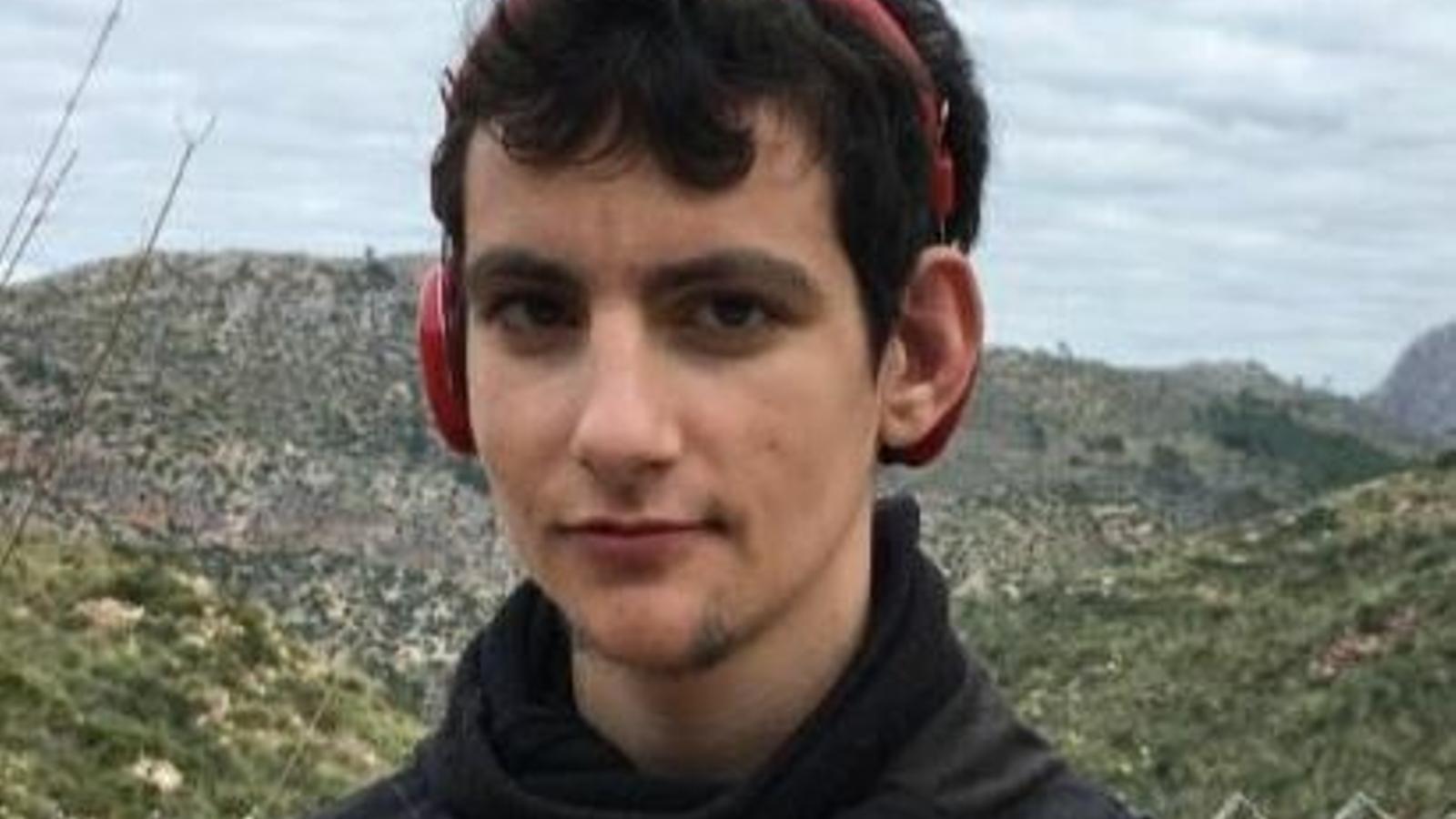 Imatge del jove desaparegut.