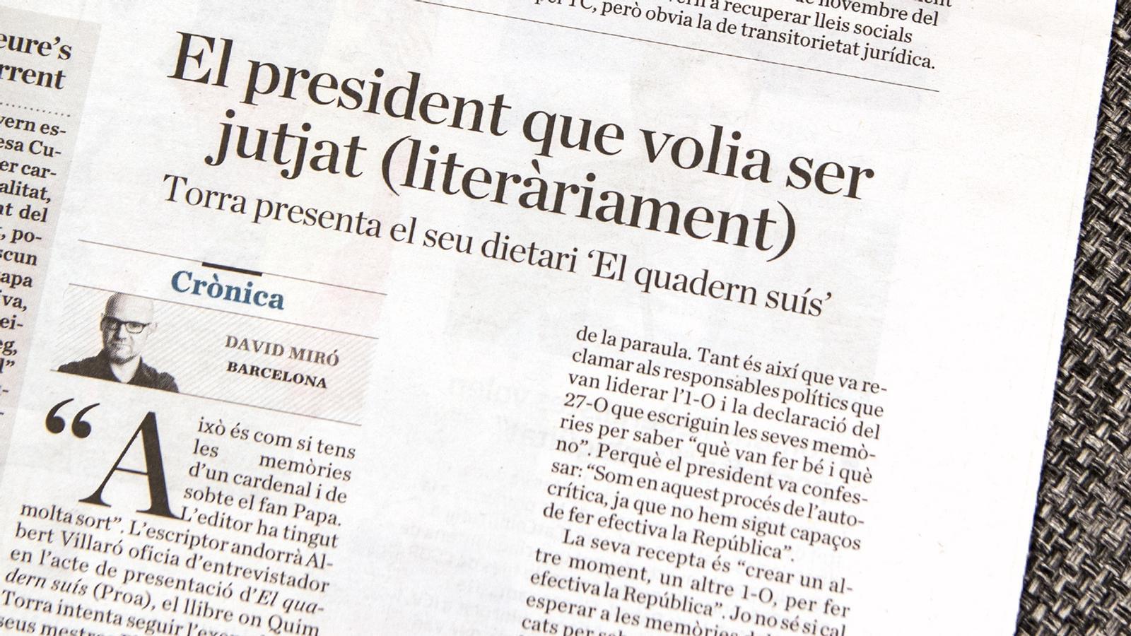 L'anàlisi d'Antoni Bassas: 'Què vol dir un altre 1 d'octubre, president Torra?'